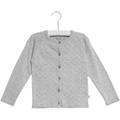 WHEAT CARDIGAN MAJA MELANGE GREY