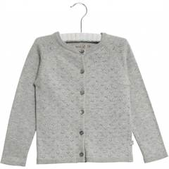 WHEAT MAJA CARDIGAN GREY MELANGE