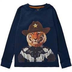 The New bluse / langærmet T-shirt - navy/tiger