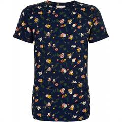 The New T-shirt - navy/blomster