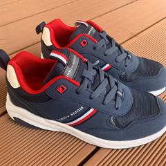 Tommy Hilfiger sneakers - synt. ruskind - navy