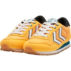 "Hummel sneakers ""Reflex Jr"" i neon orange-gul"