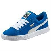 PUMA SUEDE JR BLUE-WHITE  SKO