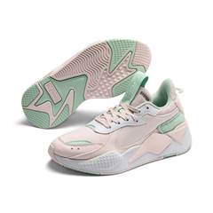 "Puma RS-X Collegiate Jr sneakers i retro look med farverne ""Mist green - rosewater"""