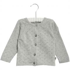 WHEAT MAJA CARDIGAN MISTY GREY MELANGE