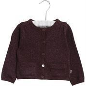 Wheat Cardigan Ibi Soft Eggplant