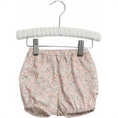 "Wheat bloomers ""Nappy"" med fint rosa blomsterprint - øko"