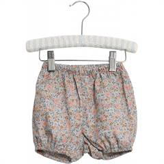 "Wheat bloomers ""Nappy"" med fint violet blomsterprint - øko"