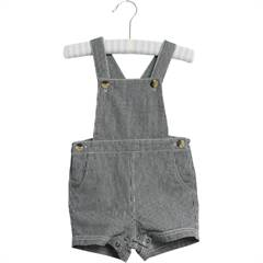 Wheat overalls shorts i stribet denim str. 62-92