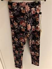 Little Wonders Celia leggings til piger i Brown Fall Flowerprint
