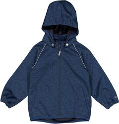 Wheat softshell jakke - navy