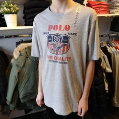 RALPH LAUREN GRAPHIC TEE GREY