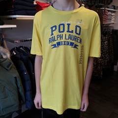 RALPH LAUREN GRAPHIC GUL T-SHI