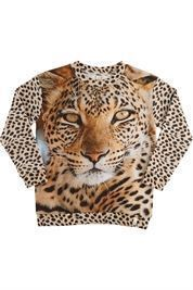 POPUPSHOP LOOSE SWEAT LEOPARD
