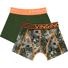 Vingino boxershorts 2-pak i orange / army