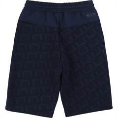 Hugo Boss bermuda shorts i navy med flot all-over logo print