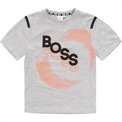 Hugo Boss T-shirt i grå med sporty print