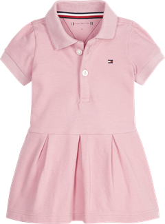 Tommy Hilfiger baby girl polo dress i lyserød