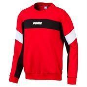 PUMA REBEL CREW SWEAT BOY RED
