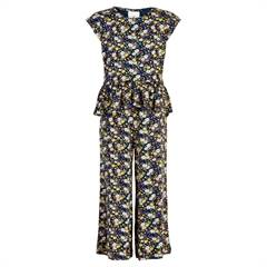 "The New sort jumpsuit med blomster og flæser ""Orchid"""