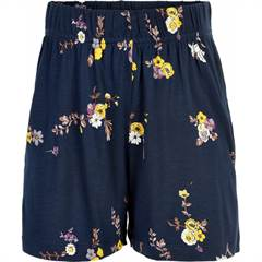 The New løse shorts i navy med blomster - str. 98-152