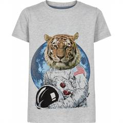 The New T-shirt - tiger/grå
