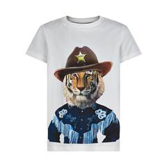 The New T-shirt - hvid/tiger/sherif