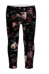 The New leggings - blomster/sort